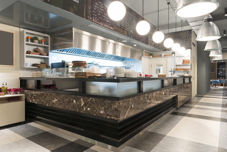 Interior of a fast casual restaurant