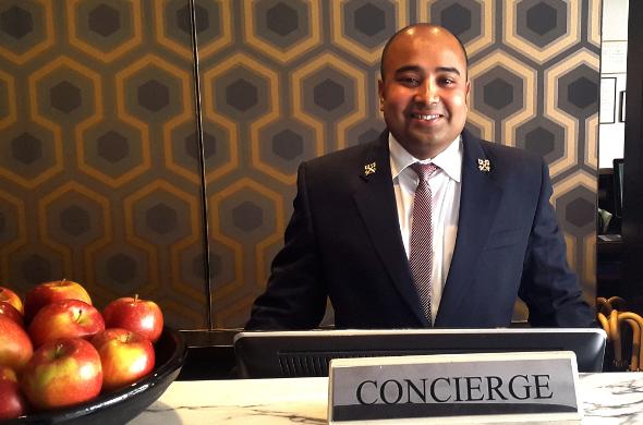 Concierge at desk